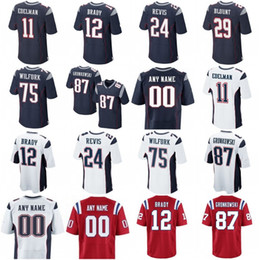 Wholesale 21 Malcolm Butler Devin McCourty Chris Hogan Tedy Bruschi Doug Flutie Blue White Red New Football Jerseys