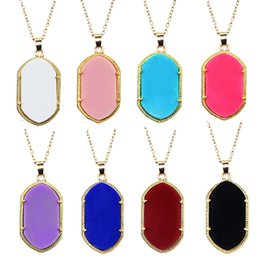Necklace for Women Gold Natural Stone Danielle Pendant Necklace