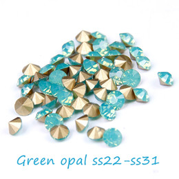 288 720pcs Pointback Crystal Rhinestones Green Opal Gems ss22-ss31 Non Hotfix Round Glass Rhinestone Strass Beads DIY Jewelry Making