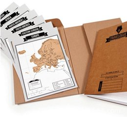 Wholesale New Popular Travelogue Maps Scratch Map Travel Log Tourist Maps Notebook Best Travel Gift Creative Life