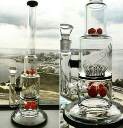 Hot Sale Glass water pipes glass bongs with gear perc and sprinkle perc with various colors