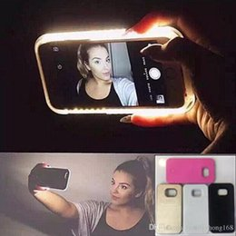 Wholesale LED light Up Selfie Phone Case Luminous Back Cover Shell Cases Illuminated For iphone plus SE Samsung Galaxy S6 S7 A SW