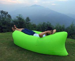 Wholesale Sleeping lazy bag Fast Inflatable banana Bag Hangout Nylon Air Bed Lounger Lazy Chair Mattress hiking Camping Sofa
