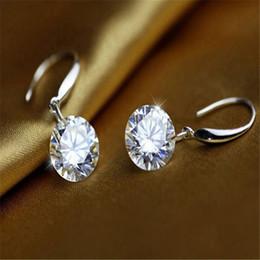 Fashion Jewelry 100% 925 sterling silver Earring 10MM Cubic Zirconia Dangle Earring For Women Best Gift
