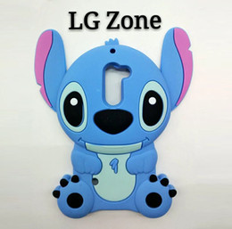 Wholesale 3D Cartoon Baby Stitch Soft Silicone Rubber Case For MOTO G3 G4 LG K7 K10 Zone X Screen Samsung Galaxy Grand Prime G530 J5 J7 J510 J710