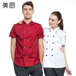 Wholesale The chef clothing work clothes and summer kitchen clothing chef coverall