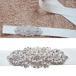 Wholesale High Quality Crystal Beads Pearls Bridal Sashes Real Image White Ivory Bridal Belts For Wedding Evening Party CPA783