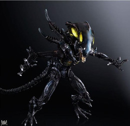 Wholesale Action Figures Play Arts PA change change profiled colonial clan Alien Warrior VS vomiting movable hand Office animation model CM PCV