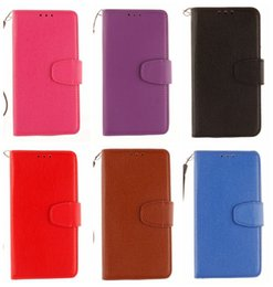 Wholesale For LG K10 K7 G4 V10 Litchi Leechee Flip TPU Silicone Frame Cover Wallet Leather For Sony Xperia X XA M5 MOTO X play For HTC M9 M10 Strap