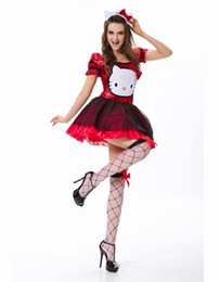 Wholesale 25 Discount Classic Cartoon Cat Fancy Dress Halloween Carnival Cap Sleeve Adult Sexy Costume for Woman W418658