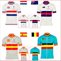 Wholesale Special offer cycling jersey bike wear clothing Holland Belgium Australia Spain Netherlands National flag pro team nowgonow