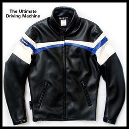Wholesale NEW TOP PU racing jacket motorbike racing cool motor jacket classic Motorcycle Auto Racing BMW JACKET S XL black