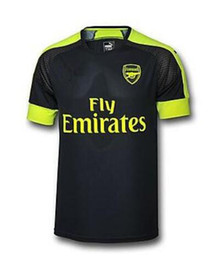 Wholesale Thai quality A Arsenal soccer jersey third black Arsenal MONREAL WILSHERE GIBBS GIROUD Football Shirts