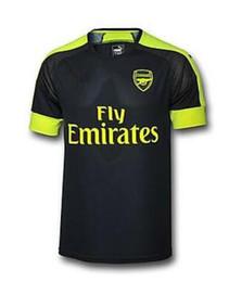 Wholesale Thai quality A Arsenal soccer jersey third black Arsenal MONREAL WILSHERE GIBBS GIROUD Football Shirts