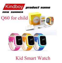 Promotion enfants finder 2016 Kid GPS Q60 enfant intelligent Montre bracelet SOS Appel Location Finder Locator Tracker pour Kid Enfants Anti Perdu Baby Monitor