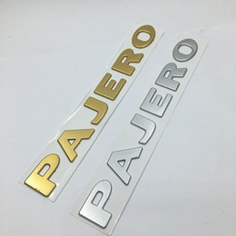 10Pcs  lot 3D PAJERO ABS Car Emblem Badge Body Side Logo Car Stickers Decal For Mitsubishi