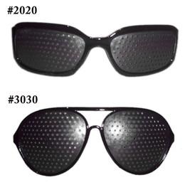 Wholesale Pinhole Eyewear New Fashion Style Unisex Glasses Anti fatigue Stenopeic Pinhole Eyewear Eyesight Improve Vision Care Sunglass