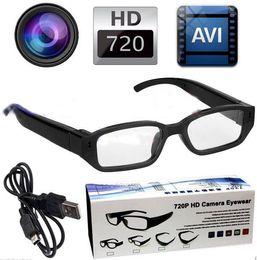 Wholesale Spy cameras glasses Camera Eyewear camera p HD Ultra thin flat glasses Hidden cameras Dvr Video Audio Recorder Mini DV