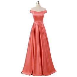 Bateau Neck Pleated Long Satin Evening Dress 2018 Floor Length Evening Gowns For Party Lace Up
