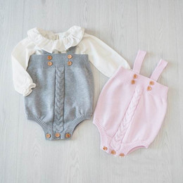 Wholesale 2016 Autumn New Girl Bodysuits Knitted Cotton Sleeveless Princess Jumpsuit Baby Clothing Not have shirts
