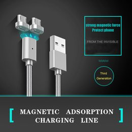 Wholesale New magnetic data line phone universal quick charge magnet magnetic adsorption data line Cable