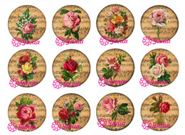 New Arrival DIY 18mm Cabochon Glass Stone Buttons Cabochon Vintage Music Rose Buttons for Snap Jewelry Bracelet Necklace Ring Earrings