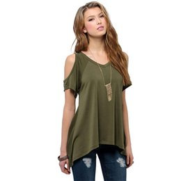 Delicate Promotion 2016 Summer Sexy T Shirt Women Casual V-Neck Off Shoulder T-Shirt Short Sleeve Solid Stretch T-Shirt dcuxi