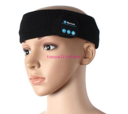 Wholesale Factory price Bluetooth Music Knitted Hats Soft Wireless Speaker Receiver Sports Cap hats Headphone For iphone Samsung S7 Note