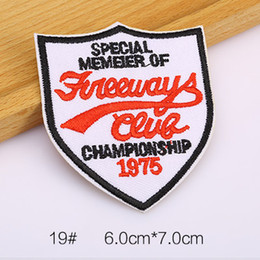 special member of * championship 1975 Iron on Embroidered patch Gift shirt bag trousers coat Vest Individuality