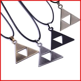 4 COLORS Legend Of Zelda the Triforce Zelda Necklace Triforce Pendant for men women Alloy Triangle movie jewelry Christmas gift 160543