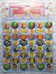 Wholesale New sheets Pikachu Poke Badge Button Pin CM party favor