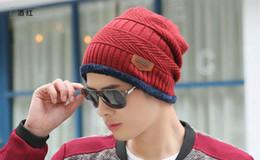 Compra Online Sombreros casual para los hombres-El sombrero al aire libre de la manera del invierno de los hombres de la manera de la gorrita tejida del color de la gorra de bie ...