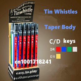 Wholesale Irish Whistle Flute Key of D Tin Whistle Clark Irish Penny whistle Hole Clarinet Flute Nickel Plated Flauta Musical Instrument