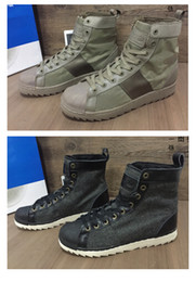 Wholesale 2016 Mens Boots Retro High Top Brand Shoes Three stripes SUPER Man STAR JUNGLE EURO40