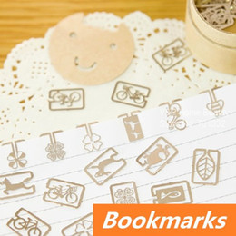 120 pcs in 6 box Mini metal Bookmarks for books Page Holder Zakka marcador de livro stationery office School supplies 6440