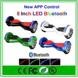 Wholesale 8 quot Bluetooth Hoverboard Smart Balance Wheel Electric Scooter Inch Electric Scooter With APP LED Light Multicolor