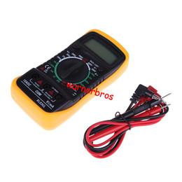 Wholesale 1pcs LCD Digital Multimeter Portable Electronic Measurement Instruments Meter AC DC Multitester Blue Backlight Voltage Resistance Amp Meter