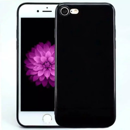 Wholesale For iPhone plus Solid Color Candy Glossy TPU Gel Soft Case Cover Skin For iphone7 plus