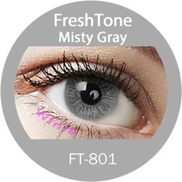 Wholesale cheap price korean lens KFDA approved FreshTone misty gray natural look cosmetic colored contact lenses