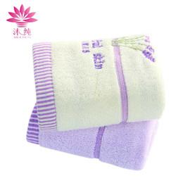 muchun Brand New Arrivel Weaving Lavender Pattern Soft Nature Cotton Towel Square Towel Shower Bath Towel free shipping