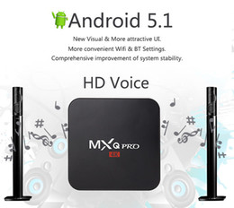 Amlogic android en Ligne-MXQ PRO 4K TV Android BOX Amlogic S905 Quad-Core Cortex-A53@2.0GHz Android 5.1 streaming Media Player Kodi Box complet Loaded 1G 8G