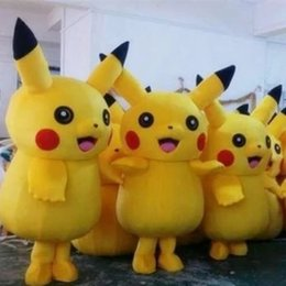 Hot sale! Pikachu Mascot Costume Fancy Dress Outfit Pikachu Mascot Costumes