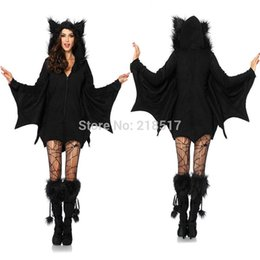 Wholesale New Adult Womens Black Witch Halloween cosplay costume Party Vampire Costumes Outfit Fancy Bat Devil Cosplay Pirate Dress F