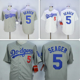 Wholesale 2016 NEW SEASON COREY SEAGER LA DODGERS NEW WHITE HOME GRAY ROAD STTICHED MENS BASEBALL PLAYER JERSEY SHIRT