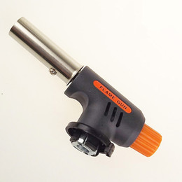 Wholesale Flame gun lighter butane jet Torch Starter Maker Flame Gun Lighter One Gas Butane Burner Auto Ignition Weld flame gun Kit