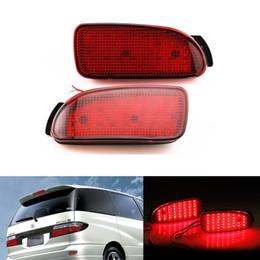 2 PCS Car Parking Warning Brake Tail LED Fog Lights Red Rear Bumper Reflector Light Reflectors Lamp for Toyota Estima