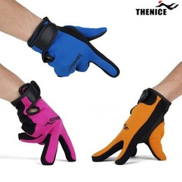Wholesale Thenice original mm neoprene gloves scuba dive gloves snorkeling submersible equipment swim water ski surfing Spearfishing S013