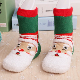 Wholesale thick towel material Christmas Socks For Kids Boys Girls Ankle Socks New Childrens Autumn Winter Best Socks Baby Socks