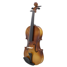 Wholesale Fiddle Case Bow Rosin Full Size Natural Acoustic Wood Color Violin