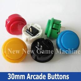 Wholesale 50pcs Pack High Quality Amusement Cabinet Games Machine s Accessory mm Arcade Push Buttons